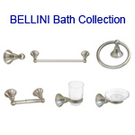 View detail information about 'Satin Nickel Bellini Bath Accessories 6 piece Collection' - Bellini Collection