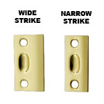View detail information about 'Polished Brass Ball Catch Strike only: Wide or Narrow Strike' - Ball Catches