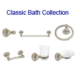 View detail information about 'Satin Nickel Classic Bath Accessories 6 piece Collection' - Classic Collection