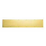 View detail information about 'Polished Brass 6 x 34 SOLID BRASS Kick Plate' - Kick Plates