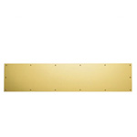 View detail information about 'Polished Brass 8 x 34 SOLID BRASS Kick Plate' - Kick Plates