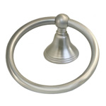 View detail information about 'Solid Brass Bath Accessories Bellini Bath Towel Rings Satin Brushed Nickel' - Bellini Collection
