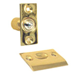 View detail information about 'Solid Brass Adjustable Ball Catch Latch: Polished Brass' - Ball Catches
