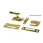View detail information about 'SOLID BRASS Large Casement Window Fastener Lock: Polished Brass CF66' - Window Hardware
