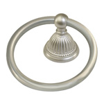 View detail information about 'Solid Brass Bath Accessories Classic Bath Towel Rings Satin Brushed Nickel' - Classic Collection