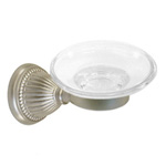 View detail information about 'Solid Brass Bath Accessories Classic Soap Dish Holders Satin Brushed Nickel' - Classic Collection